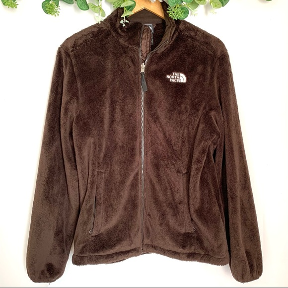 The North Face Fuzzy Brown Zip Up Winter Jacket